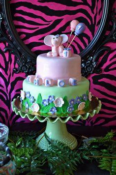 Cake at a Jungle Party #jungle #partycake