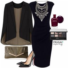 Frugal Fashion Friday New Year's Eve Outfit Valentine's Day Outfit, Outfit Of The Day, Lunch Outfit, Polyvore Outfits, Grunge, Black Dress Outfits, Work Outfits, New Years Eve Outfits, Evening Outfits