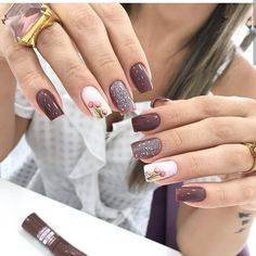 43 Unique Spring And Summer Nails Color Ideas That You Must Try 101 Elegant Nails, Stylish Nails, Trendy Nails, Cute Nails, Nagellack Design, Luxury Nails, Nagel Gel, Purple Nails, Flower Nails