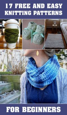 17 FREE AND EASY KNITTING PATTERNS FOR BEGINNERS →
