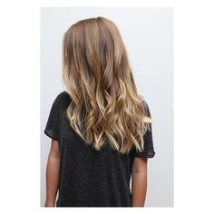 Melty brunette ombré hair color