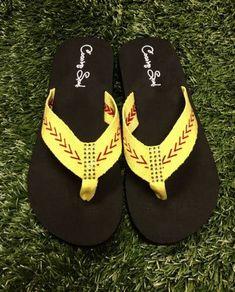 41a6e7684 Softball Sandals Softball Flip Flops Fabric Stitch FLAT Size 6 7 8 9 10 11  12 NEW Sandals Thongs Sports Sandals Cocomo Soul