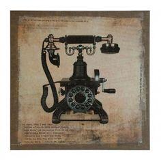 Vintage telephone canvas