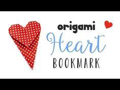 Origami Heart Bookmark Instructions ♥ DIY ♥︎ Valentine's Day ♥︎ Paper Kawaii - YouTube