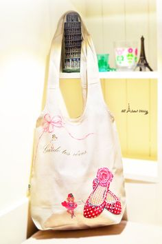 Your place to buy and sell all things handmade Cotton Tote Bags, Reusable Tote Bags, Vintage Ballet, Eco Friendly Bags, Everyday Items, Fair Trade, Purses And Handbags, Ballet Shoes, Decoupage