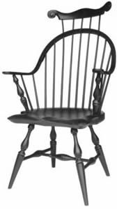 Amish Continuous Arm New England Windsor Desk Chair