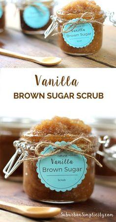 This Vanilla Brown Sugar Scrub is a perfect homemade DIY gift idea!