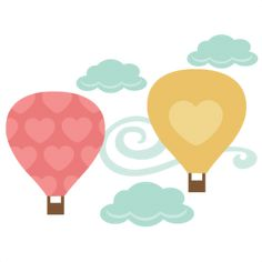 HeartsHot Air Balloons SVG cutting file for scrapbooks svg cut files free svgs