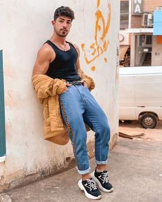 Indie Fashion Men, Unisex Fashion, Urban Fashion, Indie Outfits, Retro Outfits, Casual Outfits, Fashion Outfits, Gay Outfit, Unisex Clothes