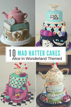 10 Mad Hatter Themed Cakes Lil' Miss Cakes Kitchen Mag Cake Central Cake By Suzanne From Cafe Pierrot Design Cakes From The Sweet Art Bake Shop Alice In Wonderland Cake All the intricate details and…