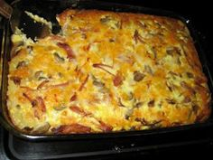 PRINT RECIPE HERE I cannot believe that I have not yet posted this winning recipe. It is by far our favorite breakfast meal - and we love . Office Breakfast Ideas, What's For Breakfast, Breakfast Buffet, Breakfast Recipes, Simply Recipes, Great Recipes, Favorite Recipes, Yummy Recipes