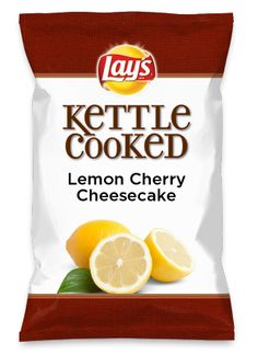 Wouldn't Lemon Cherry Cheesecake be yummy as a chip? Lay's Do Us A Flavor is back, and the search is on for the yummiest flavor idea. Create a flavor, choose a chip and you could win $1 million! https://www.dousaflavor.com See Rules.