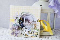Easter mini album - tunnel with Spring Parade by Vera Shelemekh