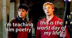 Merlin's excuses... although he does live with Gaius, who doesn't usually give the best excuses, either...