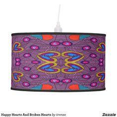 Happy Hearts And Broken Hearts Desk Lamp