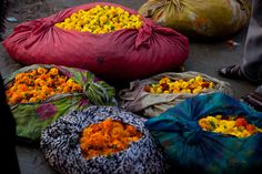 Sumptuous colors in the Indian markets.