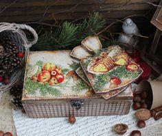 Рождественские  подарки.Christmas Gifts Декупаж.Decoupage.