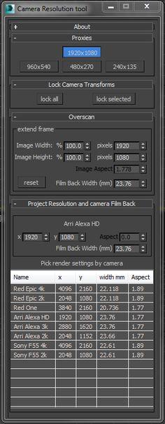 vray camera script