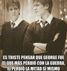 it is sad to think that george was the one who lost most with the war he lost half himself
