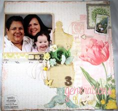 BRAND NEW Webster's Pages GIRL LAND & Unity Stamp Company Unity {itty} bitty backgrounds  www.unitystampco.com. - Card Created by Unity Design Team Member Carisa Zglobicki