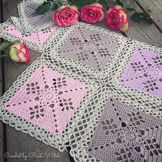 Crochet Squares Design DIY – Victorian Lattice Square o min variant av Lace Join Easy Crochet Blanket, Crochet Bedspread, Crochet Quilt, Crochet Blocks, Crochet Blanket Patterns, Crochet Motif, Crochet Lace, Granny Square Crochet Pattern, Crochet Squares