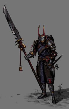 Vantra, the Third Sword Saint, Gerard Kalashnikoff Fantasy Character Design, Character Design Inspiration, Character Concept, Character Art, High Fantasy, Fantasy World, Dnd Characters, Fantasy Characters, Armor Concept