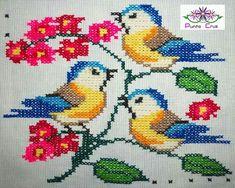 Simple Cross Stitch, Cross Stitch Bird, Cross Stitch Borders, Cross Stitch Embroidery, Cross Stitch Patterns, Crochet Clutch, Bead Art, Pixel Art, Maya