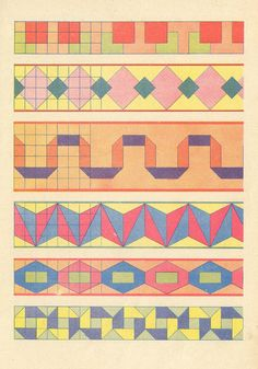 vintage (pilllpat / agence eurêka)...looks almost easy enough to have as a quilt pattern!!