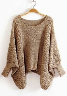Adorable Irregular Hollow-out Bat Sleeve Blend Sweater Love this but leads to dead link. No hope of a pattern.