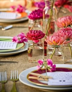 burlap tablecloths   Burlap #tablecloth helps to create a great tablescape for #summer ...