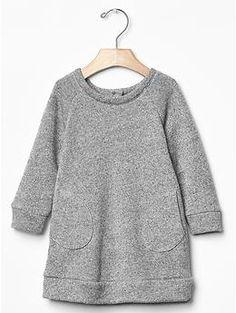Marled sweatshirt dress