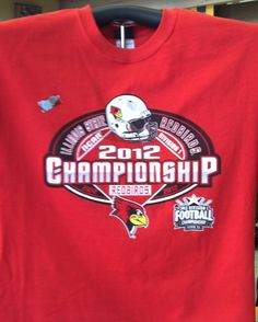 Get ready for the Redbirds' postseason match-up this Saturday (Dec. 1, 2012) at Appalachian State with your commemorative T-shirt, available at The Alamo II. $19.95 or $29.95 for long sleeve. Sizes S-3XL.