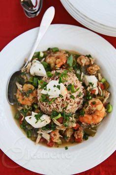 Gluten-Free Crab Shrimp Gumbo | Jeanette's Healthy Living