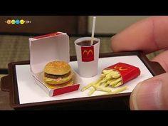 DIY McDonald's Style Miniature Big Mac Meal (Fake food) マクドナルド風ミニチュアビッグマックセット作り - YouTube