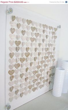 Alternative guestbook... would love to make this display with wooden hearts