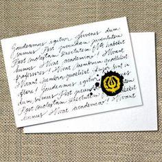 """Kortti ylioppilaalle, """"Gaudeamus igitur"""""""