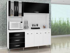 Olha que linda essa cozinha! Super prática e compactada, com porta basculante com pistão a gás. http://www.magazineluiza.com.br/kit-cozinha-raika-6-portas-e-3-gavetas-somopar/p/0737959/mo/ccom/