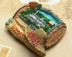 Resin Fridge Magnet, Hand Painted, 6.5 x 5.5 cm, Bulgaria SUNNY BEACH