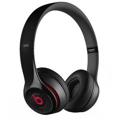 Beats By Dr.Dre Solo 2 Black Casque pliable compatible iPhone Noir found on Polyvore