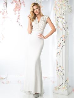 Cap Sleeve Bridal Dress with Sweeping Train | Sung Boutique L.A.