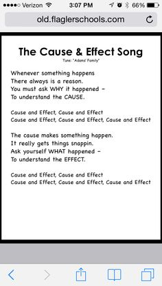 Cause & Effect Song
