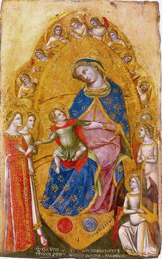10 Lorenzo Veneziano, Marriage of St Catherine. St Catherine Of Alexandria, Sainte Catherine, Madonna And Child, Catholic Saints, Italian Art, Medieval Art, Gothic Art, Sacred Art, 14th Century