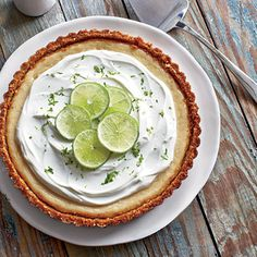 Key Lime Pie with Raspberry Sauce Coastalliving.com