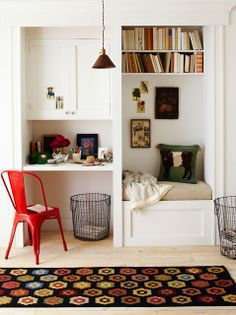 Our round-up of 35 desks for small spaces. Depending on your decorating  style and budget, here are ideas for