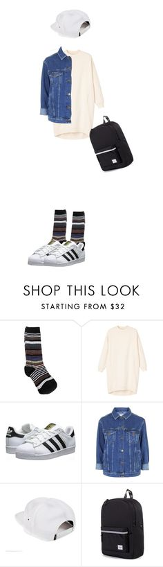 """""""Untitled #15"""" by busgong ❤ liked on Polyvore featuring Marni, Monki, adidas Originals, Topshop and Herschel Supply Co."""