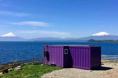 Cabaña Container N Borde Lago Parking, Chile, Mountains, Nature, Travel, Lakes, Apartments, Naturaleza, Viajes
