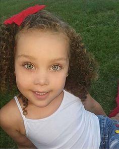 Kaedence Marie • 3 • African American & Caucasian ♥️ Follow instagram.com/kids.mixed