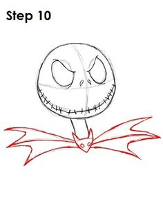 How to Draw Jack Skellington Step 10