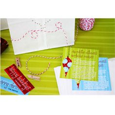 Adorable free printable gift tags & recipe cards designed by The Celebration Shoppe especially for ALL YOU readers!