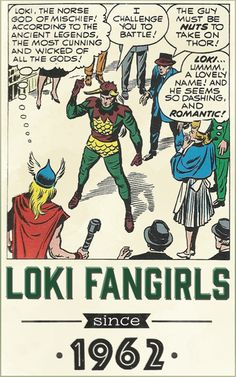 The very first Loki Fangirl in the Marvel history. And it's Jane Foster…